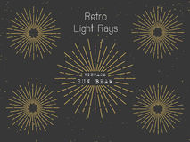 Set of retro light rays background for vintage logo Stock Images