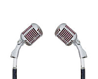 Set of Retro Microphone royalty free stock photography