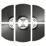 Set of retro music vinyl records vector.  Royalty Free Stock Photography