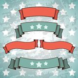 Set of Retro Patriotic Banners Royalty Free Stock Images