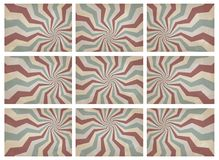 Vintage background. Set of retro pattern a vintage background. for montage your poster Stock Images