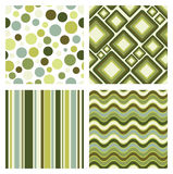 Set of retro patterns Stock Images