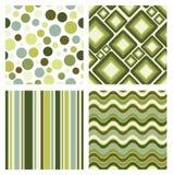 Set of retro patterns royalty free illustration