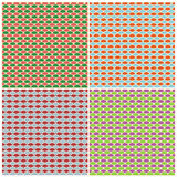 Set of retro patterns. Stock Image