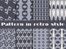 Set of retro patterns. The pattern for wallpaper, tiles, fabrics and designs. Vector. Illustration stock illustration
