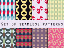 Set of retro patterns. 8 patterns. Vector. Set of retro patterns. 8 patterns. Vector illustration stock illustration