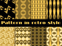 Set of retro patterns. 8 patterns. Vector. Illustration vector illustration