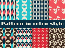 Set of retro patterns. 8 patterns. Vector. Illustration royalty free illustration