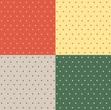 Set of retro patterns. With polka dots royalty free illustration