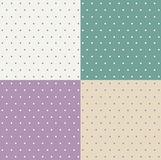 Set of retro patterns. With polka dots vector illustration