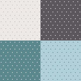 Set of retro patterns. With polka dots stock illustration