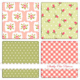 Set of retro patterns 2. Set of retro patterns with shabby chic roses, polka dots, and gingham vector illustration