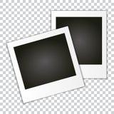 Set of Retro Photo Frame. Royalty Free Stock Image