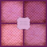 Set of retro pink vector pattern Stock Photo
