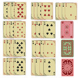 Set of retro playing cards Royalty Free Stock Photography
