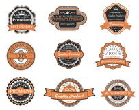 Set of retro premium labels Stock Photos