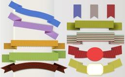 Set of retro ribbon Royalty Free Stock Images