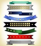 Set of retro ribbon Stock Photo