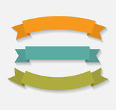 Set of Retro Ribbon Vector Illustration Royalty Free Stock Images