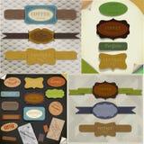 Set of  retro ribbons Stock Image