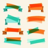 Set of retro ribbons, banners and design elements Stock Images