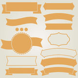 Set of retro ribbons Royalty Free Stock Photo