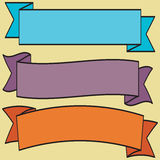 Set retro ribbons and label vector collection Stock Photography