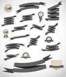 Set retro ribbons and label vector illustration Royalty Free Stock Photography