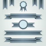 Set of retro ribbons and labels. Vector illustration Stock Photos