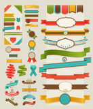 Set of retro ribbons and labels royalty free illustration