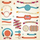 Set of retro ribbons and labels with Christmas Royalty Free Stock Photography