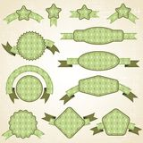 Set of retro ribbons and labels. Christmas. Pattern Stock Photography