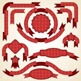 Set of retro ribbons and labels. Christmas. Pattern Royalty Free Stock Photos