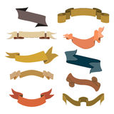 Set of retro ribbons and labels collection. Vector illustration Royalty Free Stock Photo