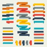 Set of retro ribbons and labels for design Stock Photos