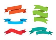 Set of retro ribbons and labels. Vector. Big vector set of laurels and ribbons in modern flat style Royalty Free Stock Photo