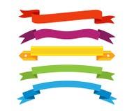 Set of retro ribbons and labels. Vector. Big vector set of laurels and ribbons in modern flat style Royalty Free Stock Photos