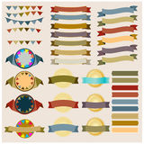 Set of retro ribbons and labels vector Stock Images
