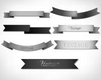 Set of retro ribbons Stock Photos