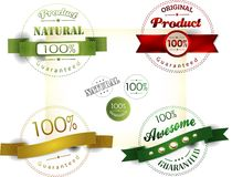 Set of retro ribbons and labels. Vector illustration Royalty Free Stock Image