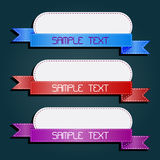 Set of retro ribbons and labels. Vector illustration Stock Image