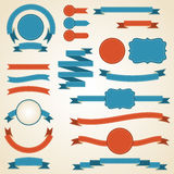 Set of retro ribbons and labels. Vector. Illustration Royalty Free Stock Images