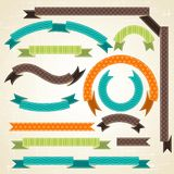 Set of retro ribbons and labels. Vector Stock Photos