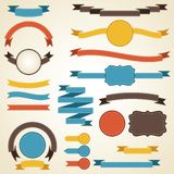 Set of retro ribbons and labels. Vector. Illustration Royalty Free Stock Image