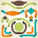 Set of retro ribbons and labels. Vector. Illustration Stock Images