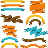 Set of retro ribbons and labels. Vector. Illustration Royalty Free Stock Photo