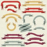 Set of retro ribbons and labels. Vector Royalty Free Stock Images