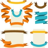 Set of retro ribbons and labels. Vector. Illustration Royalty Free Stock Photography