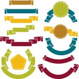 Set of retro ribbons and labels. Vector. Illustration Stock Photography