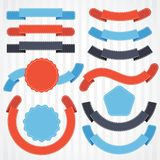 Set of retro ribbons and labels. Vector. Illustration Royalty Free Stock Photos